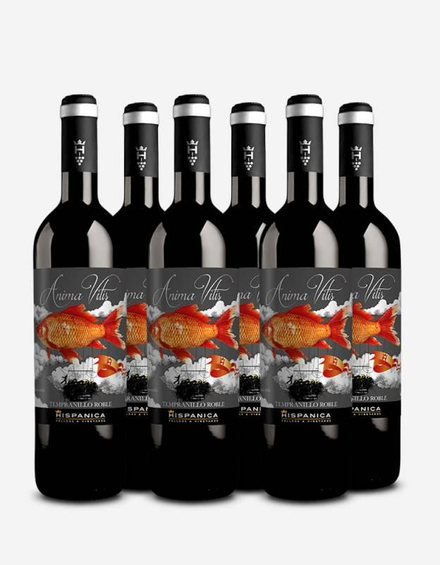 Pack 6 botellas de vino Anima Vitis Tempranillo Roble